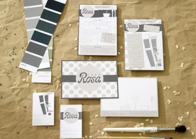 corporate design, Café Rosa