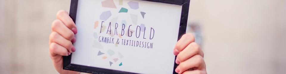 Farbgold sagt Hallo