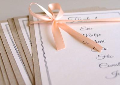 Heiraten im Vintage Stil - Kraftpapier trifft auf Apricot