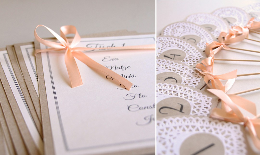 Vintage Hochzeitseinladungen