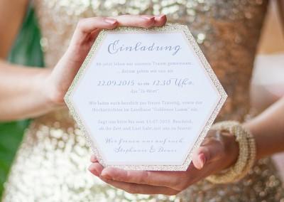 golden dream styledshoot farbgold lichterstaub  gold rosé Einladungskarte