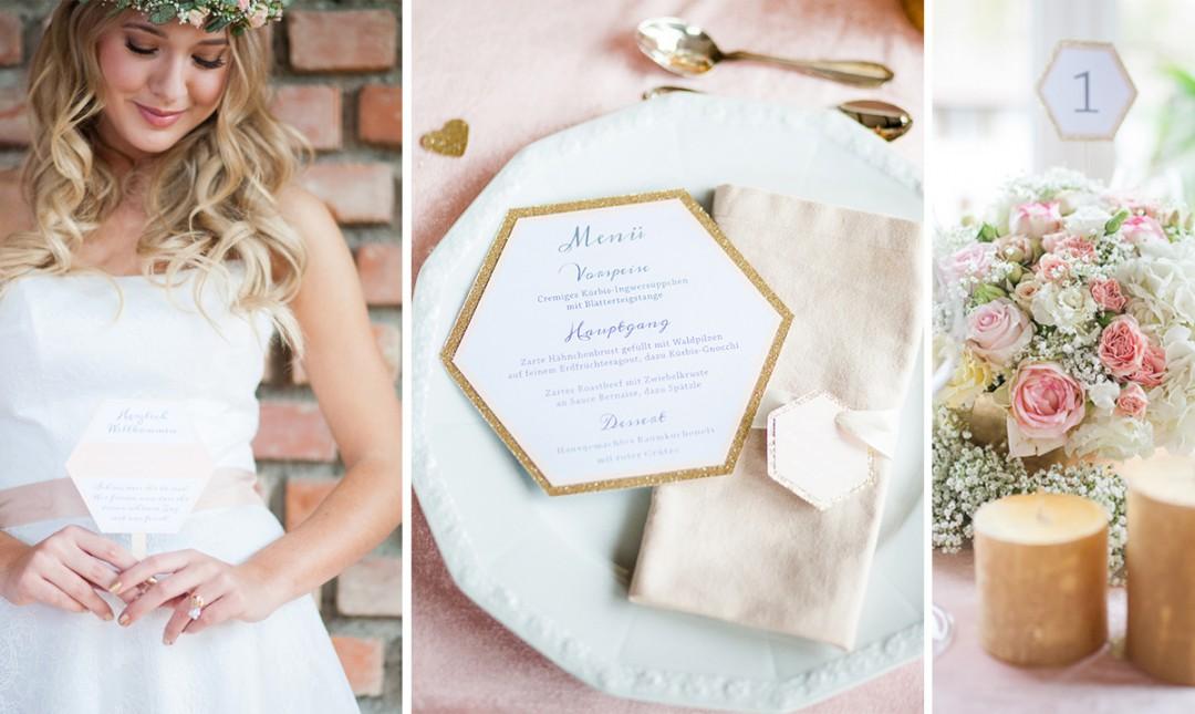 Ein Traum in Pastell – Hochzeitstrend 2016 Gold und Rosé