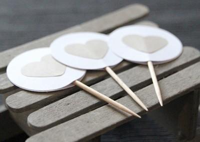 DIY Ideen aus Papier im Scandinavian Look Candytopper