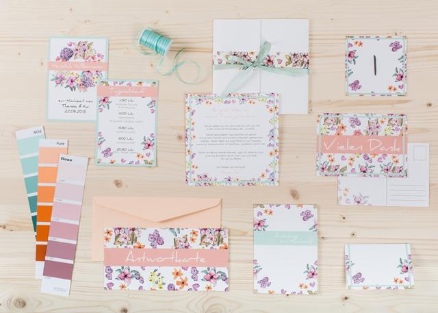 sweet little flowers - sommerliche einladungskarten mit blumen für, Einladungsentwurf