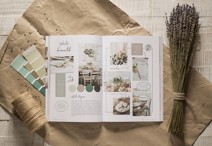The little Wedding Corner Magazin Layout und Grafik by farbgold