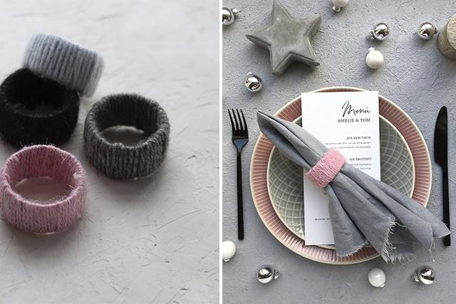 Bastelidee für Weihnachten – Gestalte deine eigenen Serviettenringe