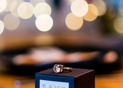 Save the Date Kiste mit Ring oben drauf