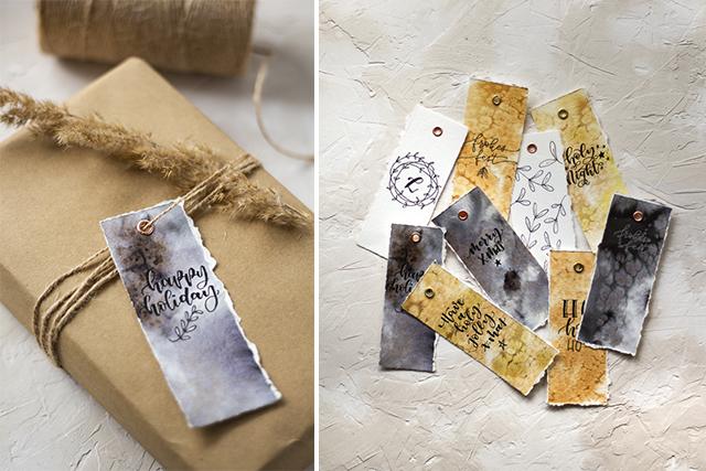 Handlettering Geschenkanhänger für Weihnachten – Last Minute Idee