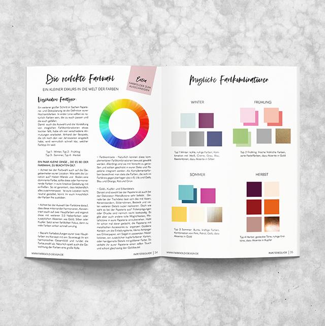 Farben für Einladungen
