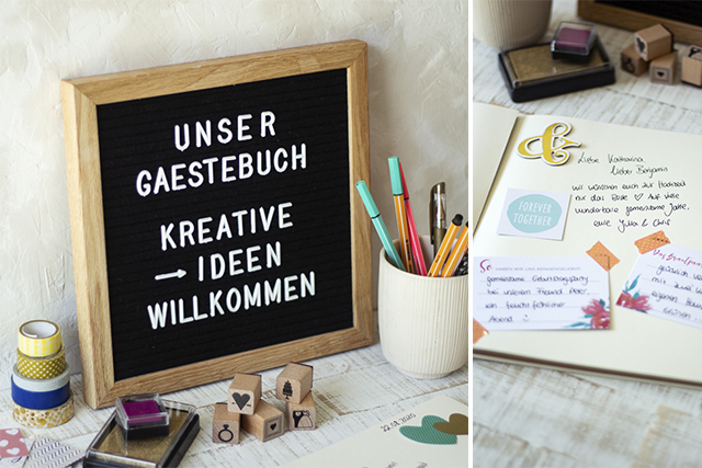 Kreatives DIY-Gästebuch – Die schönsten Erinnerungen an eure Hochzeit