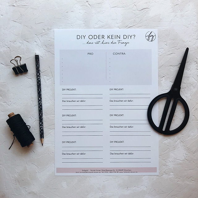 Checkliste Einladungskarten selbst gestalten