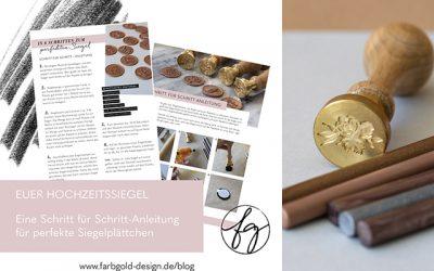 Siegel selbst machen – individuelle Hochzeitseinladungen mit Siegelstempel
