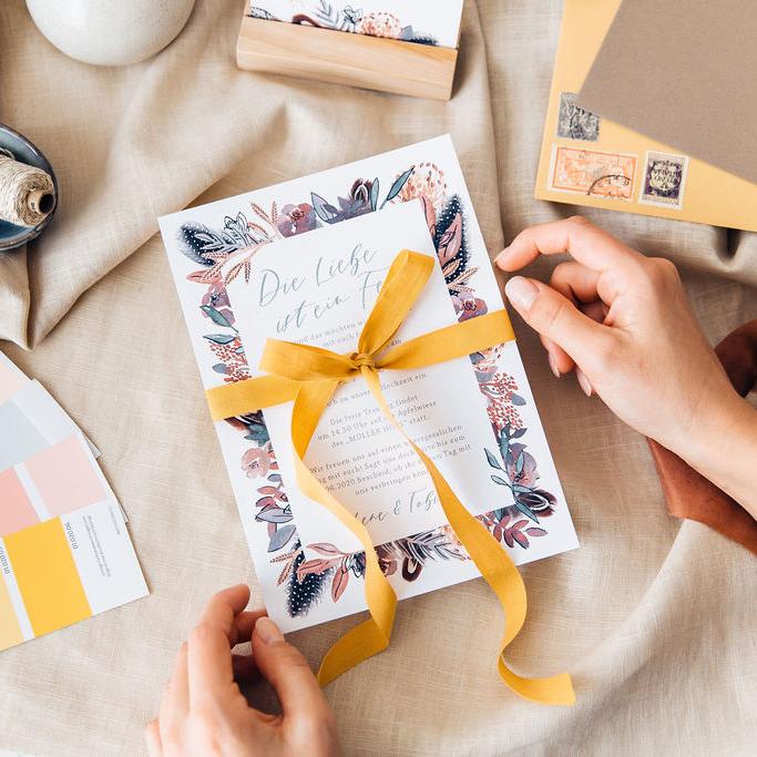 besondere Hochzeitseinladungen Boho