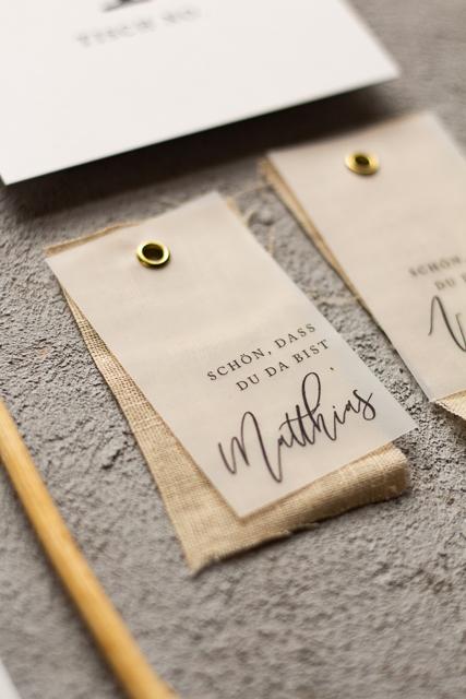 Namenskarten Hochzeit