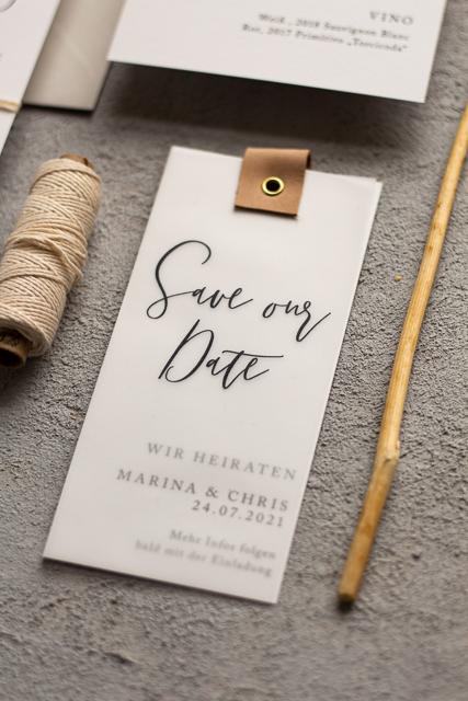 Save our Date schlicht