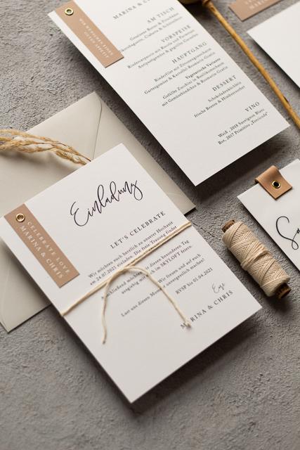 schlichte Hochzeitseinladungen