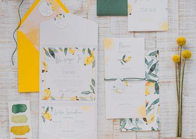 Hochzeitseinladungen_Zitrone_Gelb_Watercolour_1
