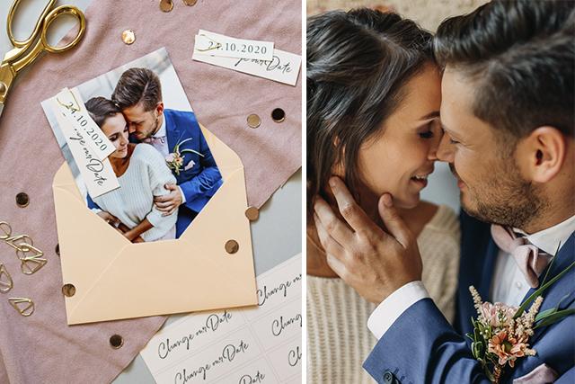 Hochzeit verschieben Textideen Titelbild