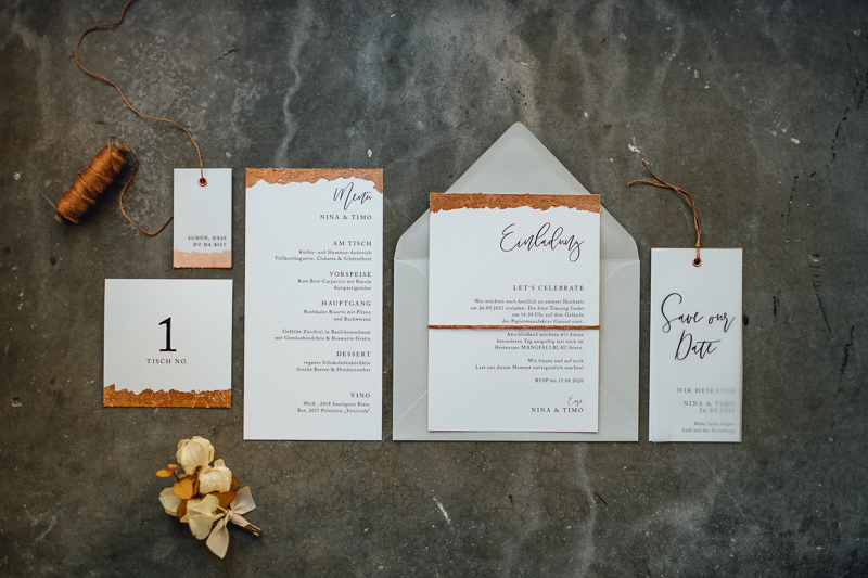 Kleien Hochzeit_moderne Papeterie