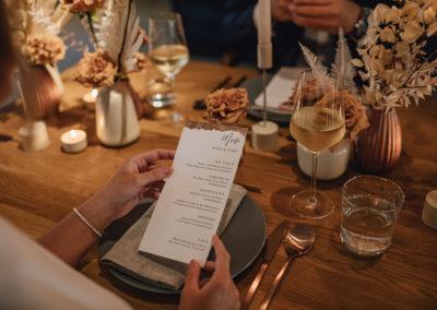 Kleien Hochzeit_Menükarte Tischdeko