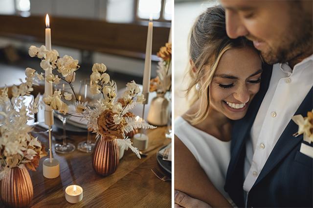 Kleien Hochzeit feiern Deko
