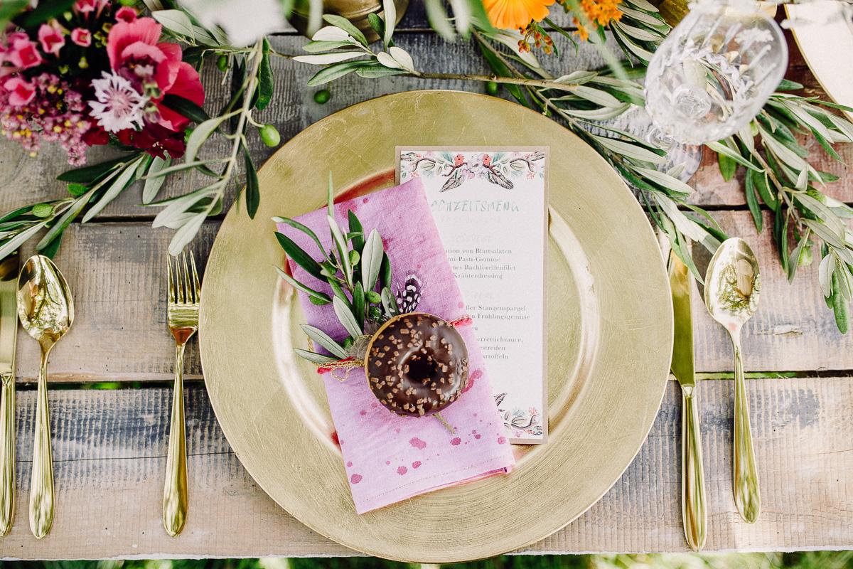 Gartenhochzeit Tischdeko
